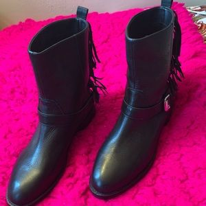 Rebecca minkoff  lack leather boots